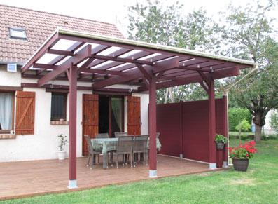 L'ossature bois exploitée en abri terrasse, une belle réussite !
