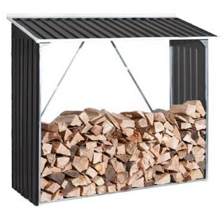 Abri jardin et bucher le pack 2 en 1 conomique - Abri buches metal ...