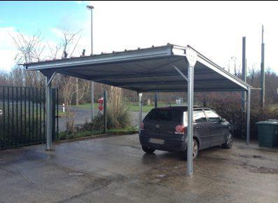 Investir dans des carports en acier galvanisé pour un parking de société