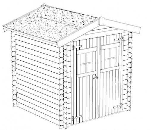 l atout charme de l abri de jardin en bois. Black Bedroom Furniture Sets. Home Design Ideas