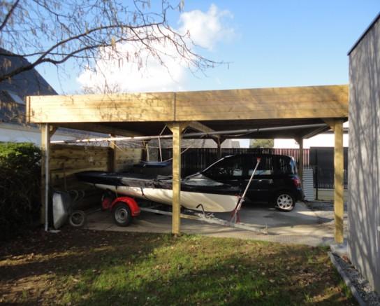 Double-carport-bois