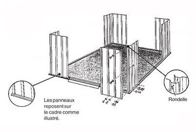 Un abri de jardin esth tique conomique et sans entretien c 39 est possible - Montage abri de jardin metal ...