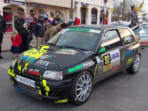 Grosse perf de Thomas Badel au Rallye Lyon Charbo 2015 !