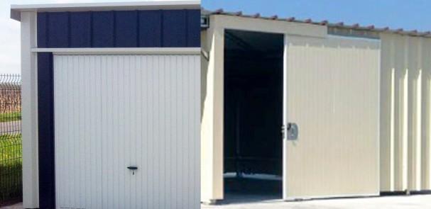 Garages m talliques simple double avec auvent vous de choisir - Tole pour porte de garage ...