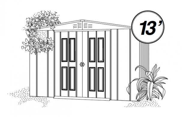 Abri de jardin m tallique en situation photos l 39 appui - Notice de montage abri de jardin metal ...