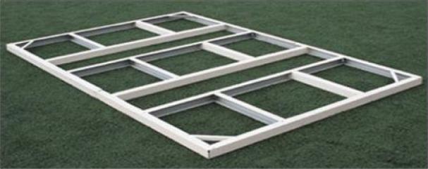 Le kit de fondation d'abri de jardin
