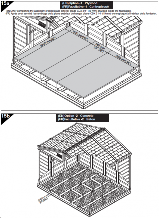 Kit de fondation pour abri de jardin