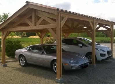 Carport en bois Douglas 2 places