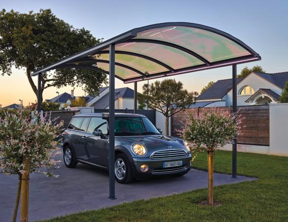 A la d couverte de la gamme sib des abris et toits terrasse design for Abri voiture moderne