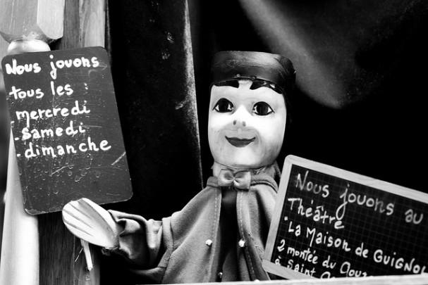 Marionnette de Guignol au théâtre
