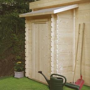 Armoire intégrée abri en bois