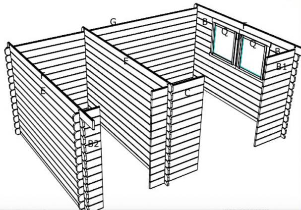 Abri de jardin en bois avec double espace for Porte double cabanon