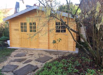 abri jardin bois madriers double compartiments