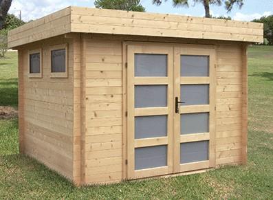 L\'abri de jardin en bois et à toit plat, un choix entre esthétique ...