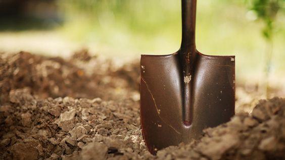 pelle terre creuser jardinage décaisser fouille