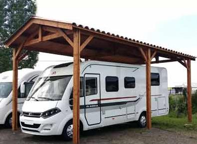 Carport en bois Douglas camping-car abri robuste