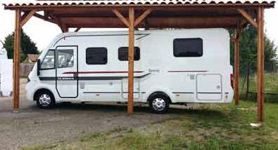 carport bois Douglas camping-car résistant