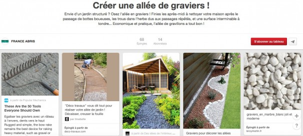 Comment mettre en place une all e de gravillons dans son for Tour de maison en gravier
