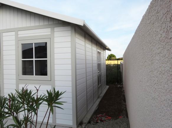 abri de jardin pente de toit résine PVC