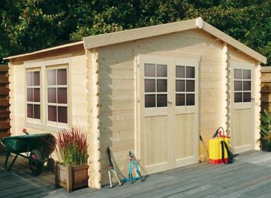 2 portes, 2 accès différents pour cet abri de jardin en bois ...