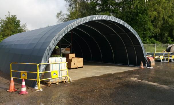 Tunnel de stockage assemblée pour entreprise de BTP