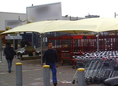 Abris de chariots pour les magasins