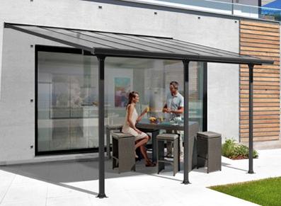 toit terrasse en aluminium pour café ou restaurant
