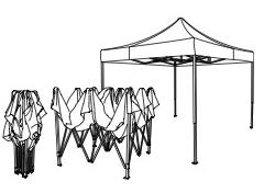 la structure en acier pliable de la tente d'évènementiel