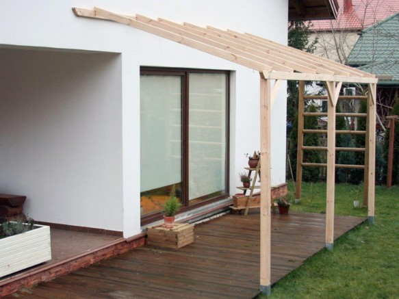 Un Toit Terrasse En Bois Sans Couverture