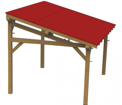 revêtement de toit en shingle rouge