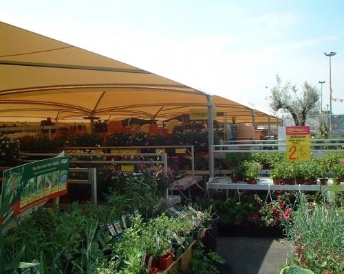 Abris de protection pour les supermarchés et grandes surfaces