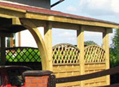 Encolures en bois, pour looker votre abri voiture bois. Richesse et qualité du pin sylvestre !