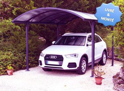 Votre abri voiture métallique en alu peut aussi être livré et monté chez vous. Top pratique !