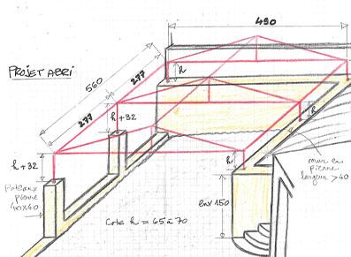 Plan sur mesure d'un carport