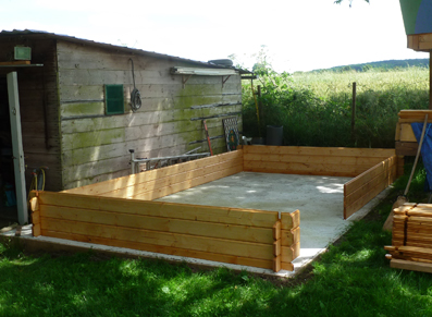 La construction d'un abri de jardin en bois