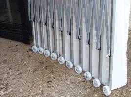 Roulettes en nylon d'un garage PVC pliant