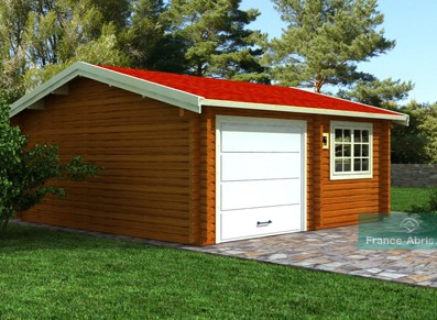 L'abri et garage bois avec atelier et remise