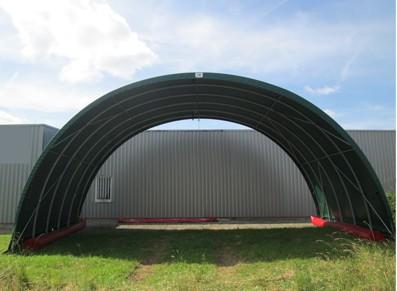 Abri et tunnel de stockage en toile tendue PVC pour entrepôt