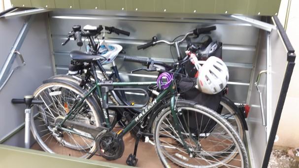 Coffre métallique pour trois vélos Cyclo Protect