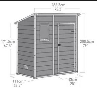 Un abri de jardin PVC au toit simple pente, surface réduite et petites dimensions !