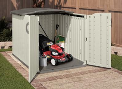 Abri ou coffre de jardin en résine PVC