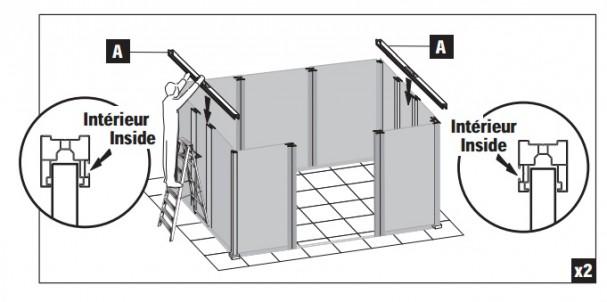 Des abris de jardin en pvc faciles monter le choix de france abris - Notice de montage abri de jardin metal ...