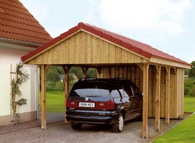 Plutôt que le duo carport/coffre à vélos, optez pour un carport bois avec atelier !