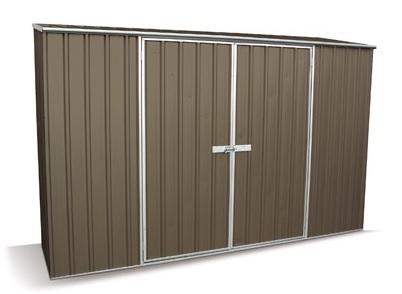 Un coffre métal Colorbond de qualité pour aller avec un carport aluminium peint