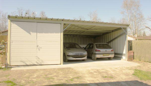 abri de voiture m tallique pour entreprises et copropri t s blog conseil abri jardin garage. Black Bedroom Furniture Sets. Home Design Ideas
