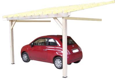 Ossature bois adossée et adossable pour parquer la voiture