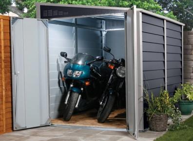 Abri moto en acier gainé PVC pour une galvanisation de qualité