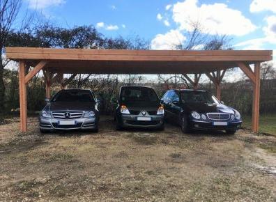 Abri carport pour 3 voiture pratique