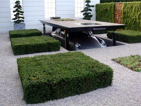 Monte-voiture pour un garage ingénieux et discret : la solution carport luxe !