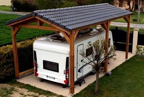 ossature grande hauteur pour un abri en bois